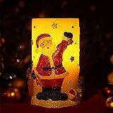 BPT Weihnachtsmann Weihnachten Deko Licht LED Flammenlose Weihnachtskerze mit Einstellbarer 4 Oder 8 Stunden Timer Batteriebetrieben