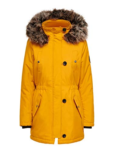 ONLY Female Parka Langer SGolden Yellow