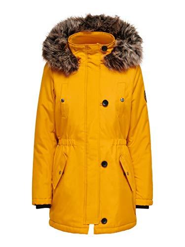 ONLY Damen Onliris Fur Winter Parka Cc Otw Jacke, Golden Yellow, M EU