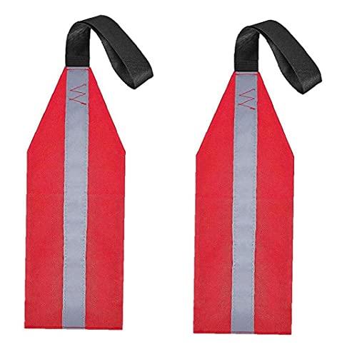 Aiyrchin Bandera De Kayak Bandera De Remolque De Carga Larga para Kayaks Canoes Sup con Cuello Redondo con Tiras Reflectantes 1 Par
