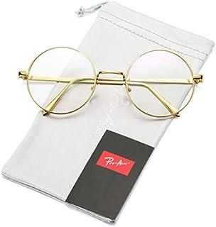 Pro Acme Retro Round Metal Frame Clear Lens Glasses Non-Prescription