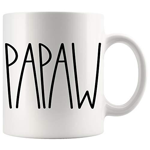 Papaw Coffee Mug | Papaw Rae Dunn Inspired | Rae Dunn Style | Birthday - Merry Christmas - Father's Day | Family Coffee Mug Birthday Present For The Best Papaw Ever Coffee Cup 11oz