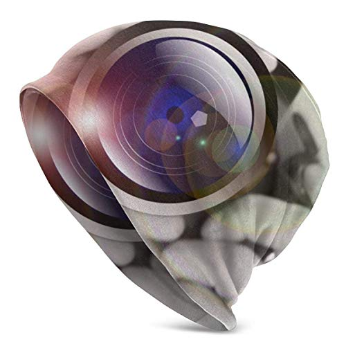 XCNGG Gorros Tejidos con Lente de cámara para Hombre y Mujer Sombreros de Invierno Gorros de Cobertura