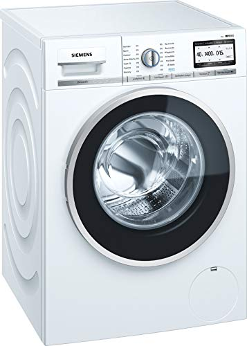 Siemens iQ800 Waschmaschine WM4YH748 / 9,00 kg / A+++ / 196 kWh / 1.400 U/min / WLAN-fähig mit Home Connect / Automatische Fleckenautomatik / Nachlegefunktion /