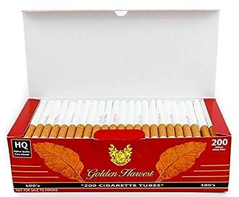Golden Harvest Cigarette Filter Tubes - Red - 100 s Size 5 Boxes/1000 Tubes