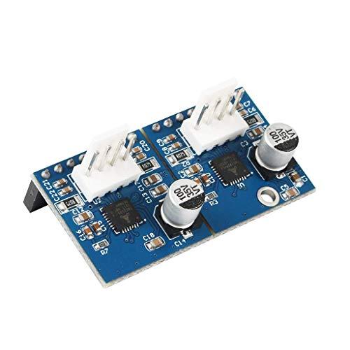 L-YINGZON Dúo 2 Maestro de Doble Paso a Paso Controlador módulo de expansión de Canal con 2X TMC2224 Paso a Paso Los Conductores hasta 256 Ministepping