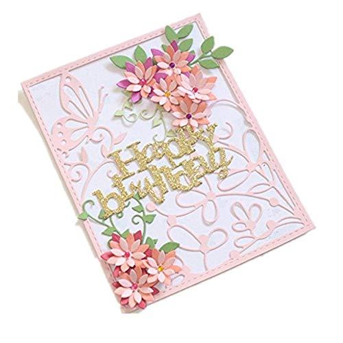 Cutting Dies,Hstore New Flower Heart Paper Card Making Metal Die Cut Stencil Template for DIY Scrapbook Photo Album Embossing Craft Decoration (H)