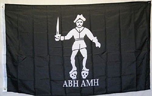 3x5 Jolly Roger Pirate Bartholomew Roberts ABH AMH Black Bart Flag 3'x5' banner House Banner Double Stitched Fade Resistant Premium Quality