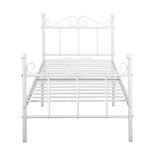 lit en metal blanc ikea