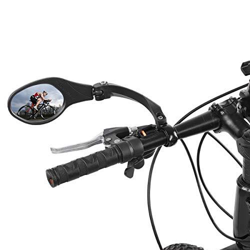 OhhGo fahrradspiegel Edelstahl 360 drehung Lenker sicher rückspiegel für Fahrrad Radfahren Mountain Road Bikes schwarz 8,3 * 6 cm