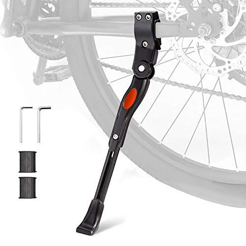 "UHACKER Adjustable Bike Kickstand Aluminum Rear Side Bicycle Stand for Bike 22""-27"""