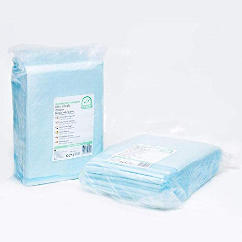 Medi-Inn Krankenunterlagen Einmalunterlagen Inkontinenzunterlagen | Farbe blau-weiß | 40 x 60, 6-lagig, 25 Stück
