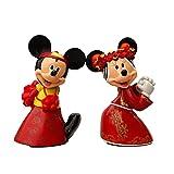 2 Unids / Set 14 Cm Lindo Minnie Mickey Mouse Casarse con Figura De Acción China Modelo Rojo Juguetes Muñecas Regalos De Boda
