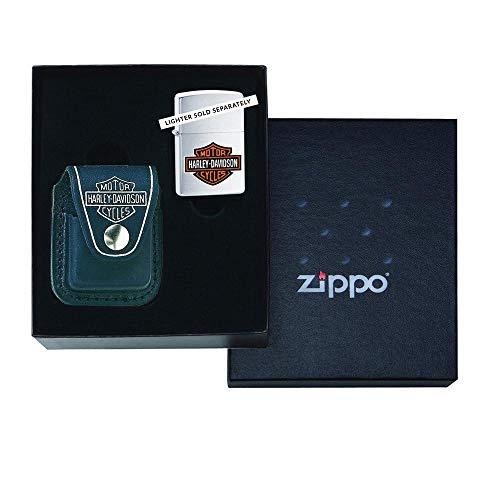 Zippo Lighter Pouch Brown w/Clip _ Parent Coffret cadeau noir