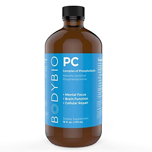 BodyBio - PC Phosphatidylcholine, Phospholipid complex - Increased Bioavailability for Brain Health - Enhance Brain Function, Focus, Memory & Clarity - 16 oz