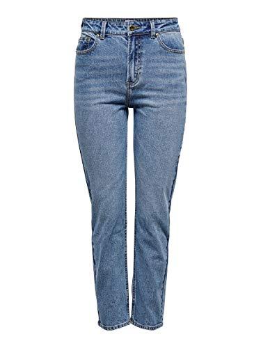 ONLY Female Straight Fit Jeans ONLEmily Life HW Ankle 2830Medium Blue Denim