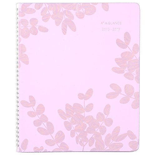 """AT-A-GLANCE 585-905A-17 Academic Year Weekly/Monthly Appointment Book/Planner, July 2016 - June 2017, 8-1/2""""x11"""", Aura Blooms (585-905A)"""
