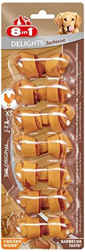 8 in 1 Delights Pork XS - Snack Masticabile con Carne di Pollo Avvolta In Pelle di Maiale