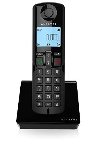 Alcatel S250, Teléfono DECT Inalámbrico (Altavoz, 50 Entradas, Identificador de Llamadas), Negro