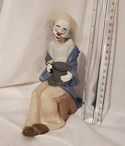 Lladro Clown in Love Sculpture