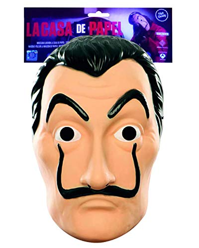 Máscara de Robo de Dinero Oficial | Máscara de Dalí | Máscara de Salvador Dalí | Traje | Halloween | Carnaval | Fiesta de Disfraces con temática de ladrón | Theif | Ladrón | OriginalCup®