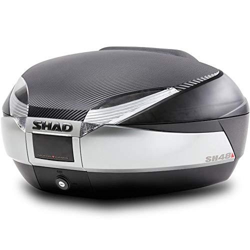 SHAD : Baul maleta moto scooter SH48 REGALOS: Tapa carbon/titanio + respaldo