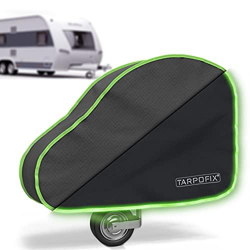 Tarpofix® Deichselhaube mit reflektierendem Rand - universal Wohnwagen Deichselabdeckung mit Doppel-Klickverschluss - Anhängerkupplung Abdeckung für Anhänger mit...