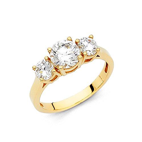 Paradise Jewelers sólido oro amarillo de las...
