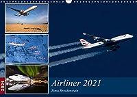 Airliner 2021 (Wandkalender 2021 DIN A3 quer): Aussergewoehnliche Airliner-Aufnahmen aus aller Welt (Monatskalender, 14 Seiten )