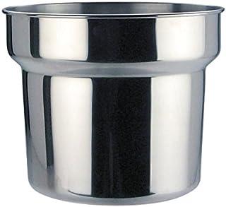 Olla de acero inoxidable para baño María Genware NEV-B10288, acero inoxidable, 4,2l