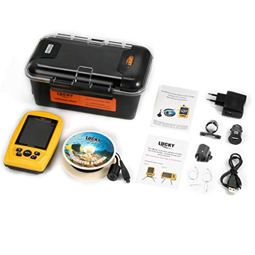 SweepID Handheld Wired Fish Finder met onderwatercamera, 20 m kabel, 4 IR/LED-lampen