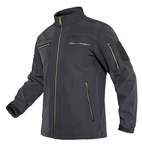 Lacsinmo Men's Fall Jacket Military Aviator Warm Combat Jacket with Pocket