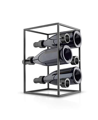EVA SOLO Wine Cube Nordic Kitchen , Porta Bottiglie Di Vino, In Acciaio E Grigio, , Unisex