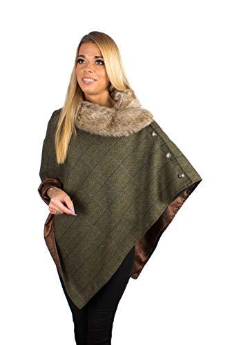 Fenside Country Clothing - Poncho - para Mujer Multicolor Castleton Talla única