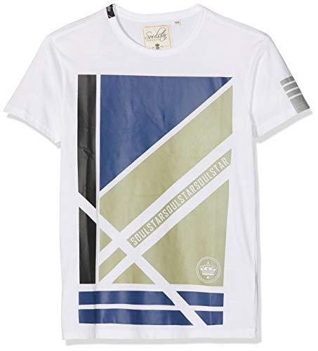 Soul Star Herren Punched T-Shirt, Weiß (White FFFFFFF), M