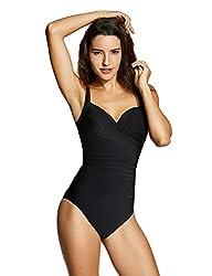 Delimira Femme Maillot de Bain 1 Pièce Monokini à Armature Elégant Ventre  Plat 315b31695cdf