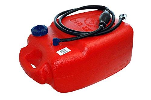 Prowake Kraftstofftank 22 Liter Set mit Pumpschlauch und Kraftstoffanschluss für Verschiedene Motoren (Tank mit Zubehör für Tohatsu und Nissan Motoren)