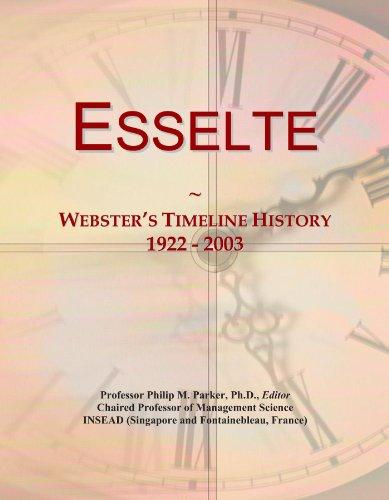 Esselte: Webster's Timeline History, 1922 - 2003