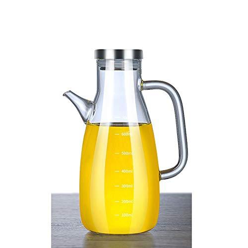 Hanpiyigyh Aceitera, Botella de aceite Cocina Cocina Espesado Super Largo Super Capacidad A Prueba de Aceite A Prueba de Aceite Condimento Botella Botella de Aceite de Vidrio (Altura 32 cm * Ancho 8cm