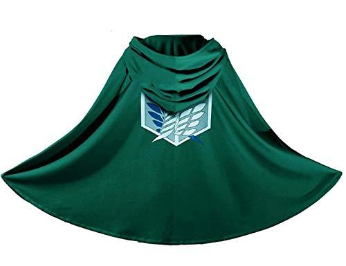 Iutoye - Disfraz de adulto infantil de los Titanios, manga verde Talla única
