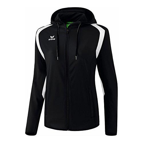 erima Damen Razor 2.0 Trainingsjacke mit Kapuze, Schwarz/Weiß, 34