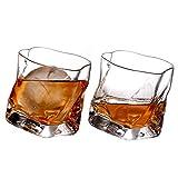 LHLJ Vaso de Whisky Doble Antiguo, 10 oz de Base Pesada, Vasos de Bar para Bebidas escocesas, borbónicas y de cóctel, 2 Piezas