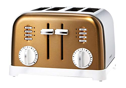 Cuisinart CPT-180 Metal Classic 4-Slice Toaster, White/Gold