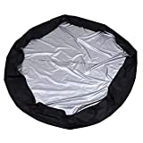 YARDWE Round Hot Tub Cover Solar Spa Blanket Cover Hot Tub Thermal Solar Blanket Cover Inflatable Pool Cover Protector Outdoor Living Covers Black