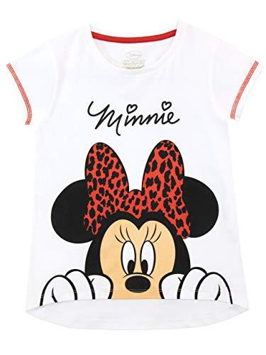 Disney Mädchen Minnie Mouse T-Shirt Weiß 98
