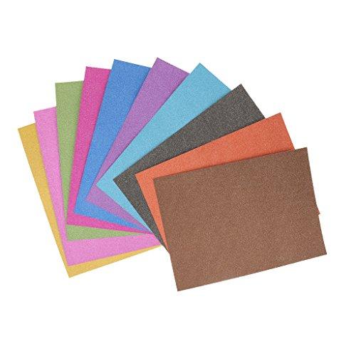 Colcolo 10 Blatt/Packung A4 Cardstock Glitter DIY Papierfarben