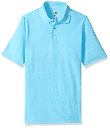 Hanes Herren Poloshirt, kurzärmelig, X-Temp mit FreshIQ - Blau - Mittel
