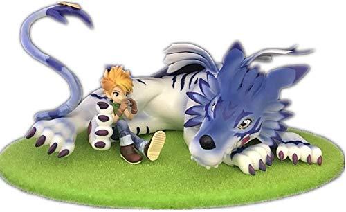 ZPTECH Exquisitas figuras de acción Digimon Figura Ishida Yamato y Garurumon Figura de anime Figura de acción Feng (color: por defecto)