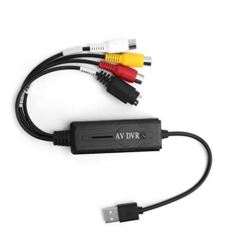 Convertidor de Audio y Video USB 2.0, convertidor Digital de Video USB 2.0 Adaptador de Tarjeta de adquisición de Audio y Video Soporte para WIN10