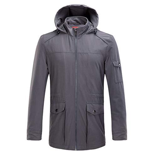Mantel grijze jas voorjaarsjas voor volwassenen jeugdjack herenkleding voorjaarsjack voor mannen vrijetijdskleding ultradunne mantel losse kleding comfortabele kleding